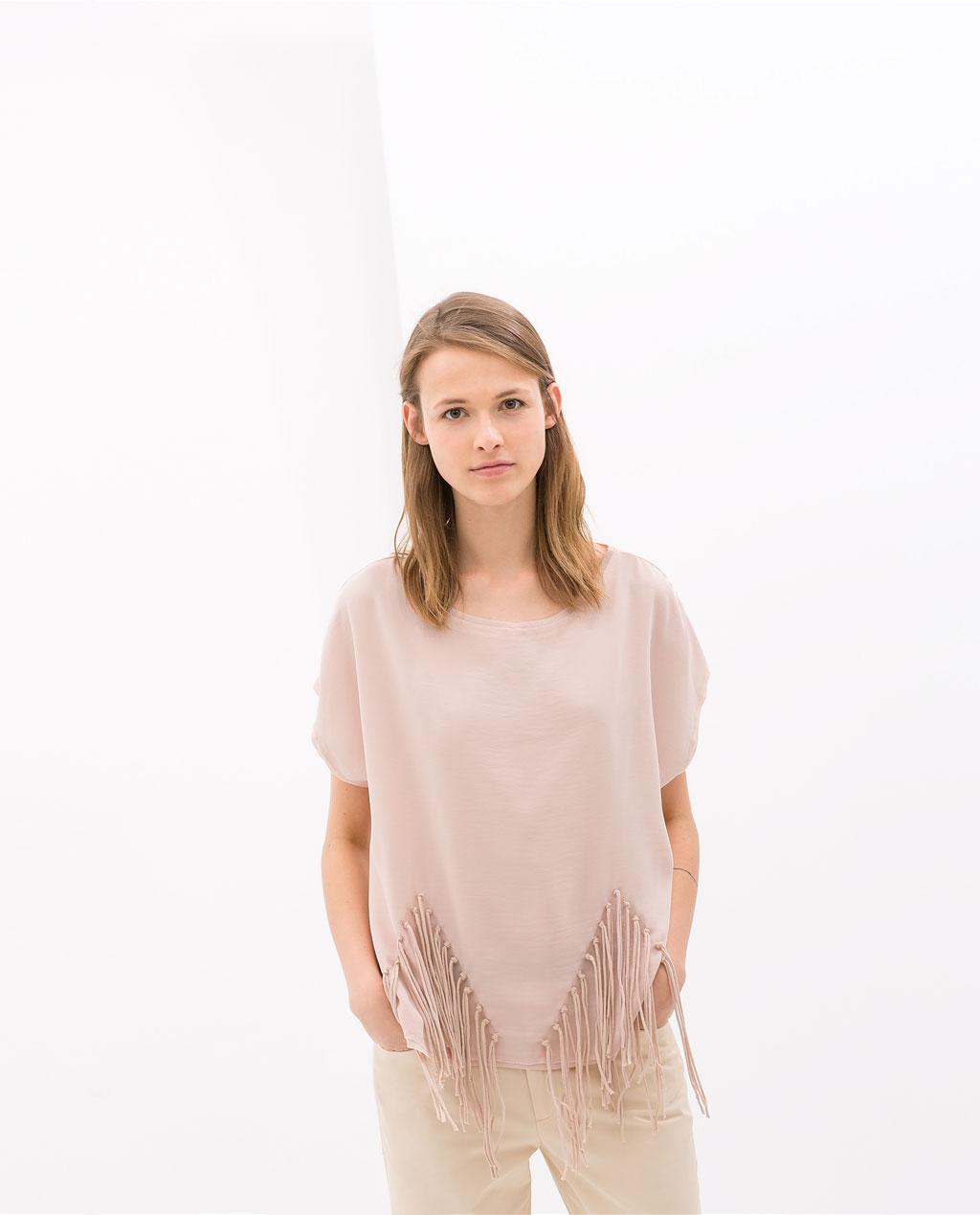 Zara Fringe T-Shirt