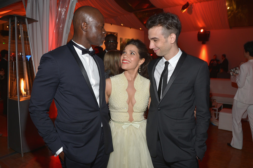 America Ferrera hung out with Djimon Hounsou and Jay Baruchel at a special reception for How to Train Your Dragon 2.