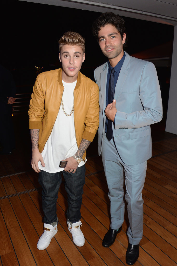 Justin Bieber and Adrian Grenier met up at t