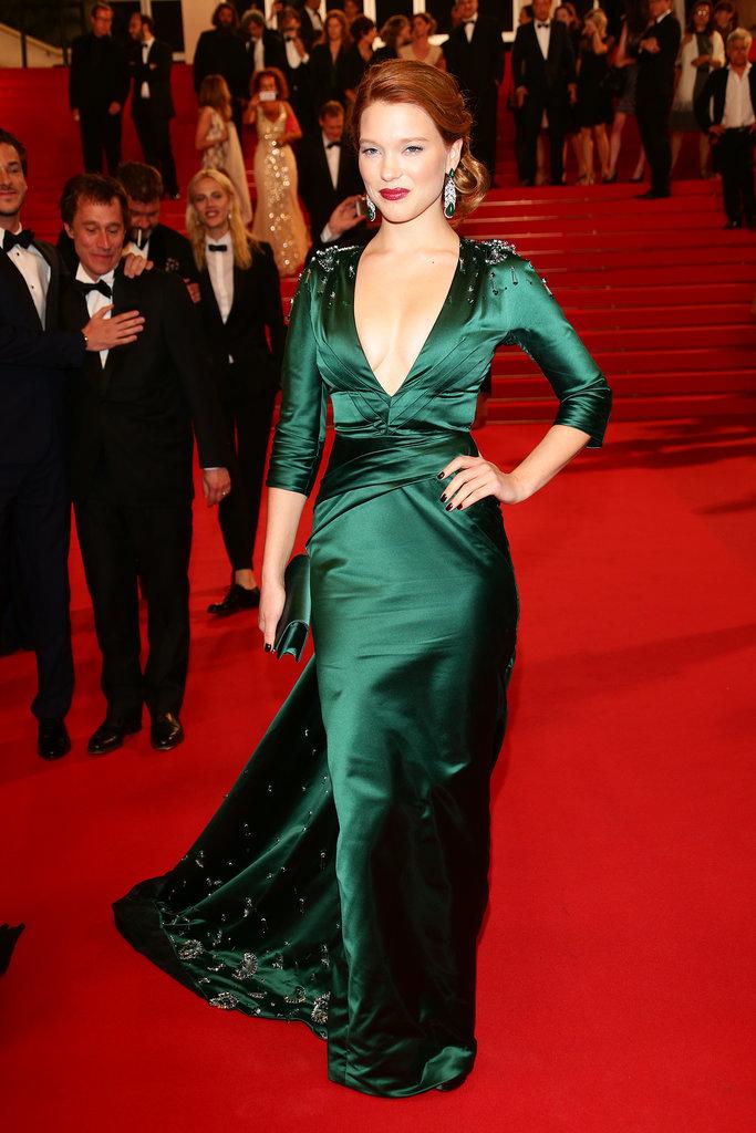 Léa Seydoux at the Saint Laurent Premiere
