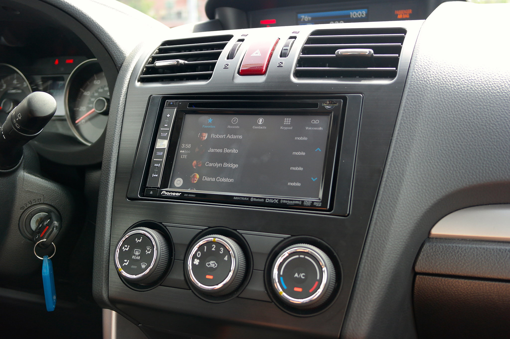 Access contacts through CarPlay.