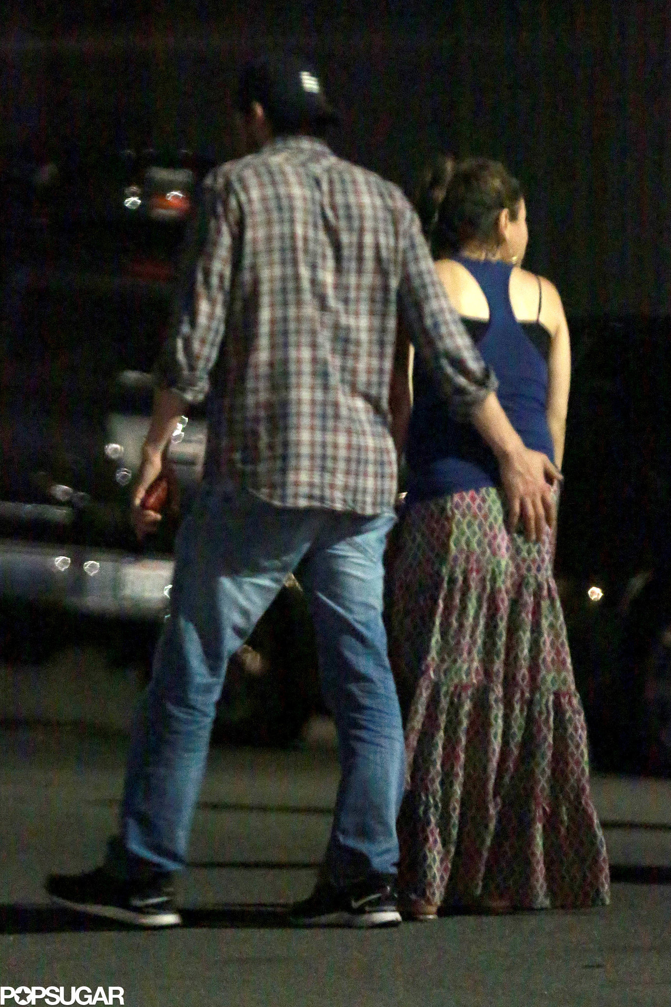 Ashton Gets Cheeky During a PDA-Filled Date With Mila