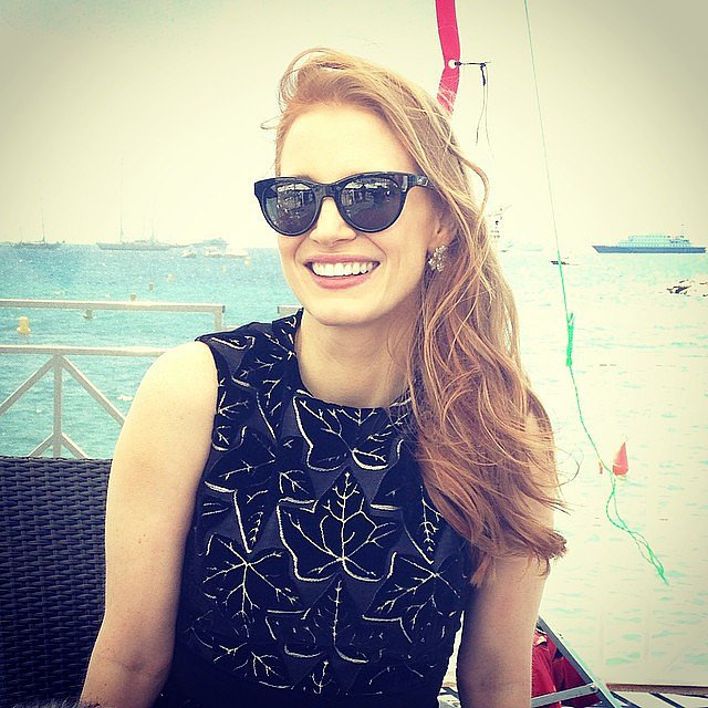 Jessica Chastain looked Cannes ready by the beach. Source: Instagram user hollywoodreporter