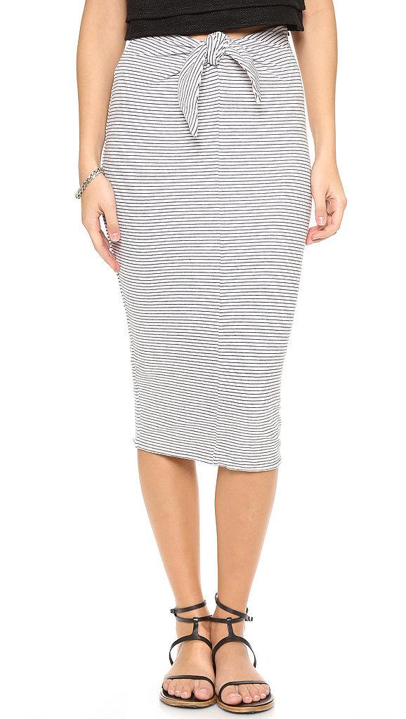 James Perse Tie-Front Skirt