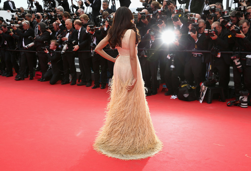 Freida Pinto posed for pictures at the premiere of Saint Laurent.
