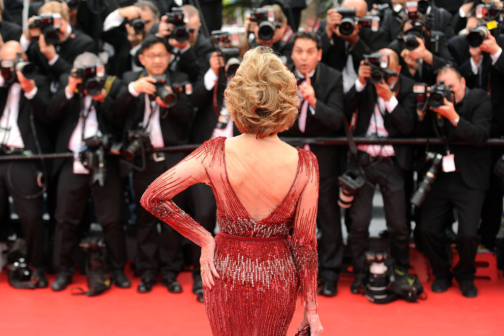 The iconic Jane Fonda struck a pose on the red carpet for the premiere of Grace of Monaco.