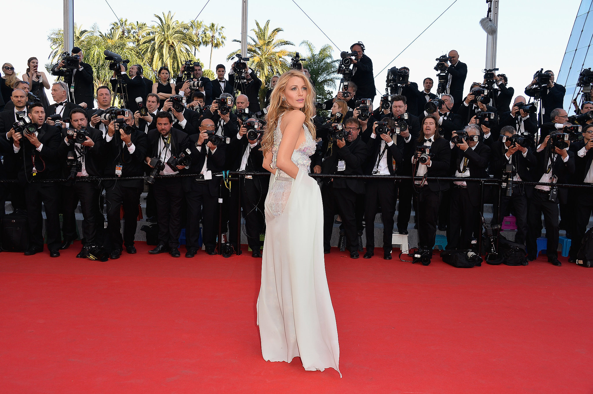 Blake Lively was the picture of glamour at the Mr. Turner premiere.