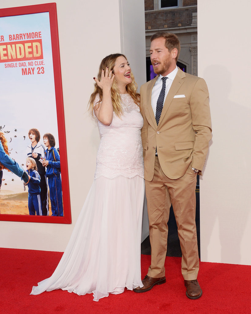 Drew Barrymore and Will Kopelman stuck close together at the premiere of Drew's latest film, Blended, in LA on Wednesday.
