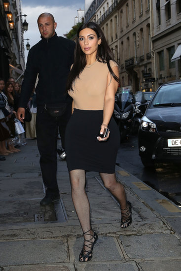 Kim headed to a dinner at Costes in Paris on Tuesday.