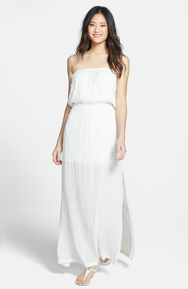 LA Made Strapless Maxi Dress