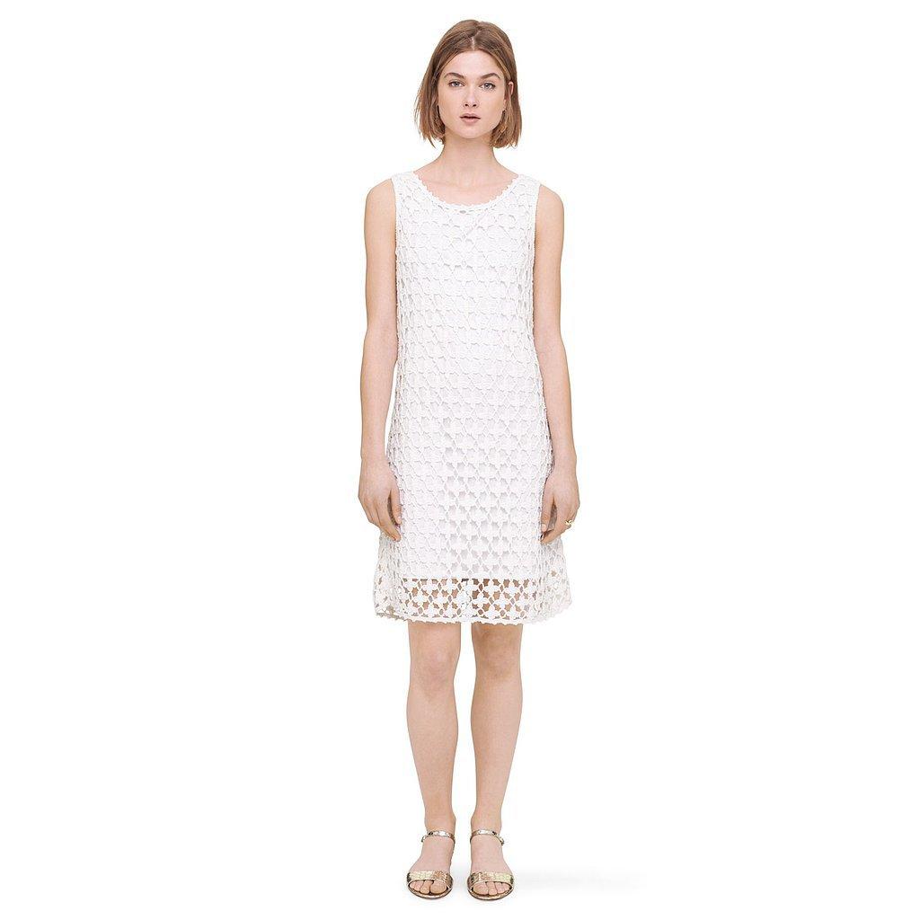 Club Monaco White Crochet Dress