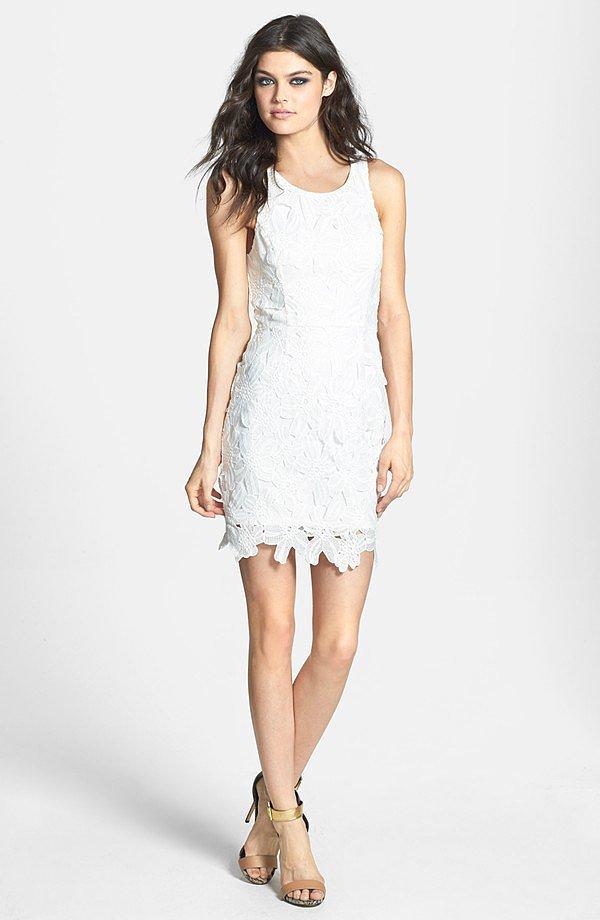 ASTR White Body-Con Dress