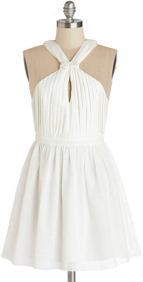 Modcloth White Halter Dress