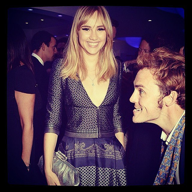 Suki Waterhouse and Sam Claflin had fun at Cannes. Source: Instagram user sukiwaterhouse