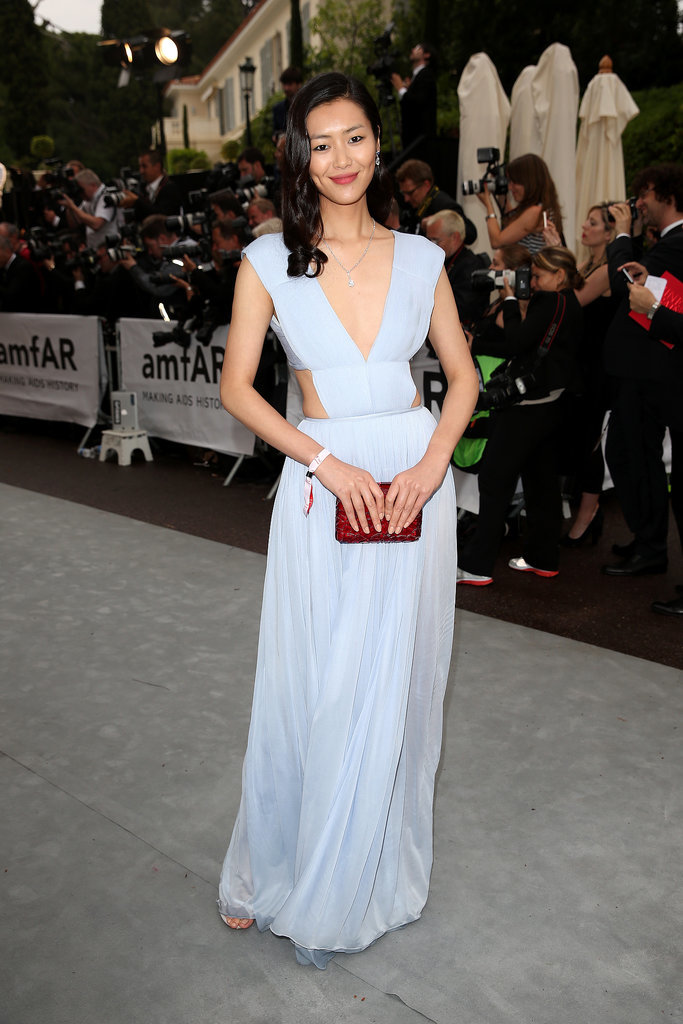 Liu Wen at the amfAR Cinema Against AIDS Gala