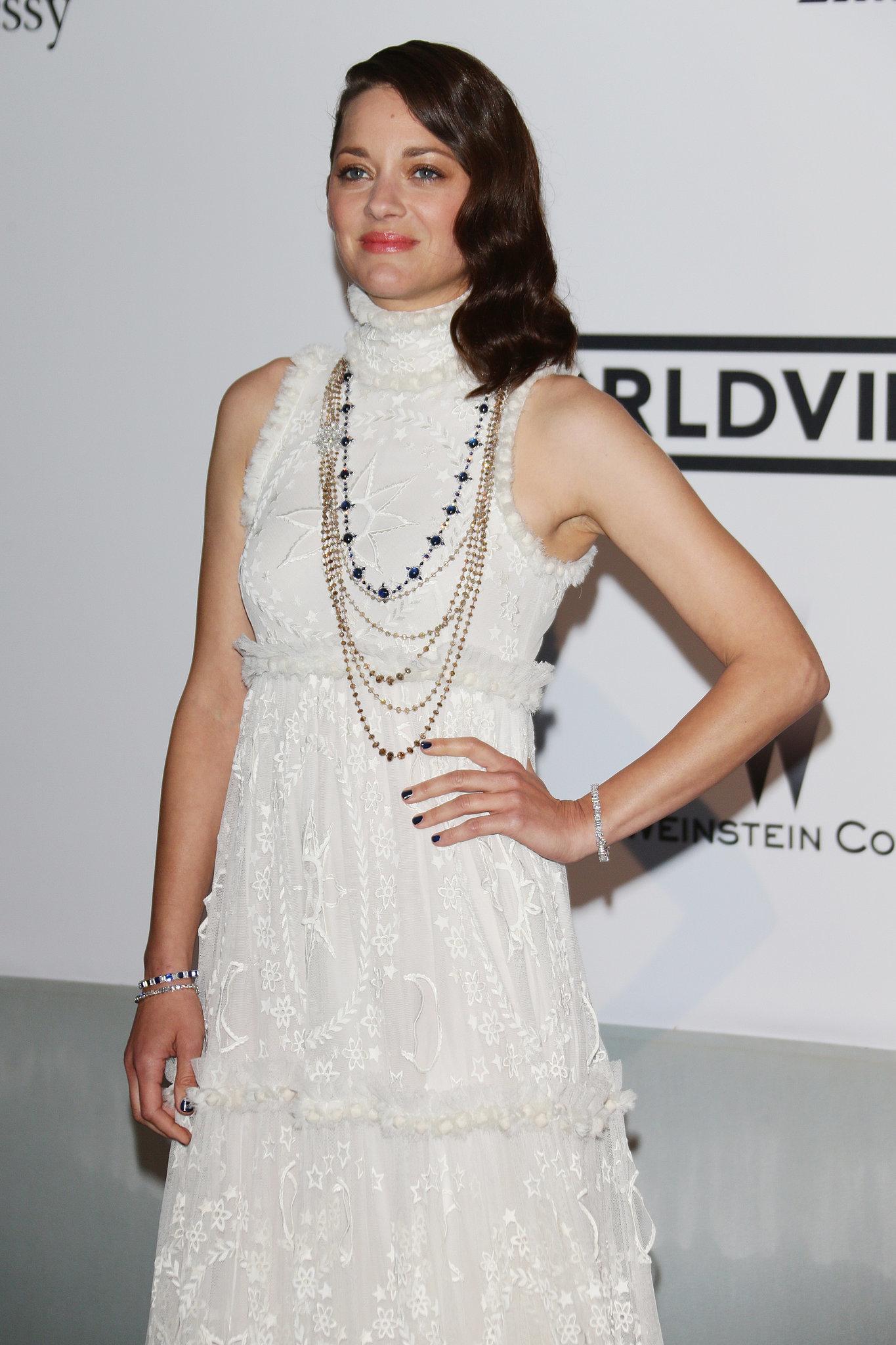 Marion Cotillard was radiant in white.