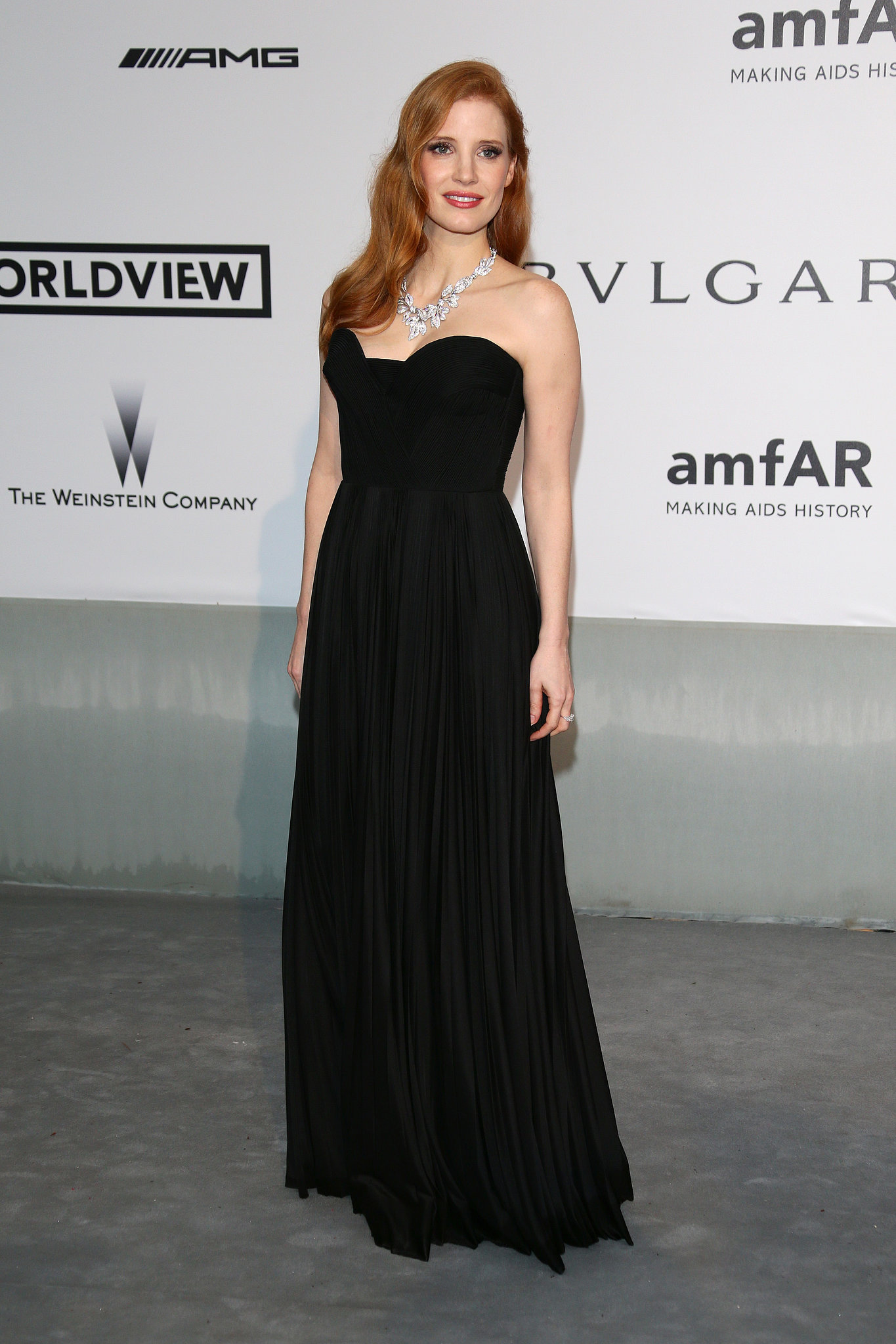 Jessica Chastain arrived in style.