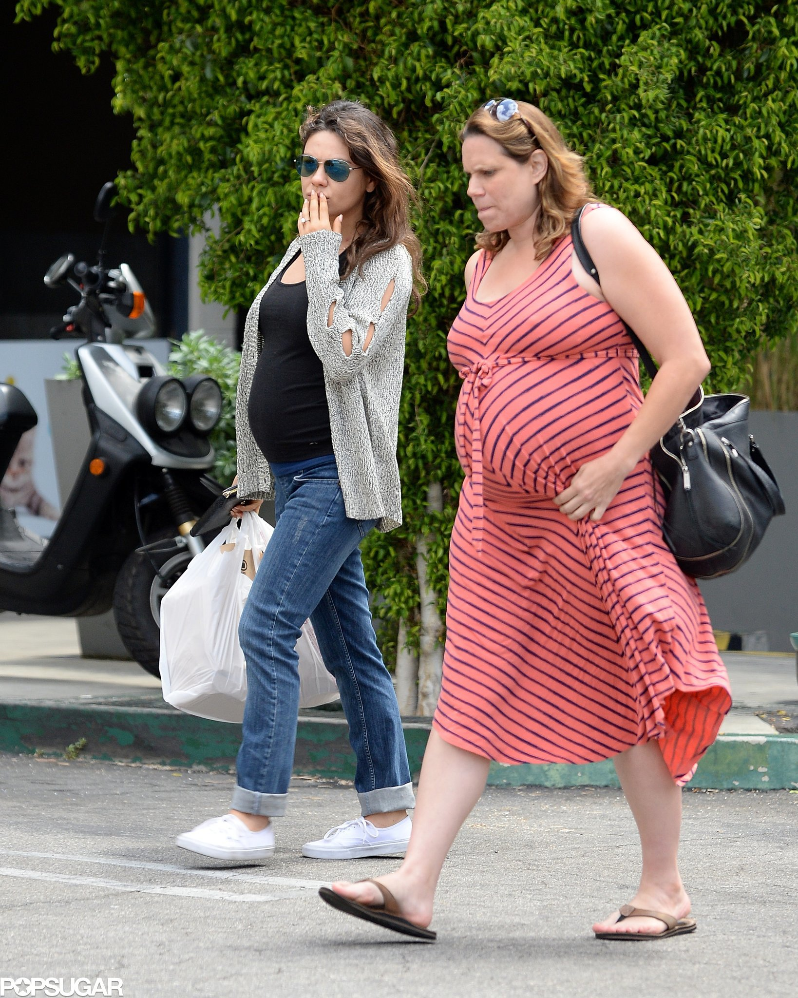 Ashton's Most Important Ladies Pair Up For a Pregnant Outing