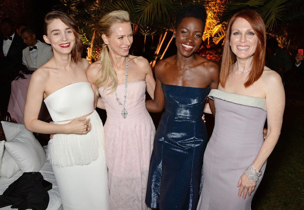Rooney Mara, Naomi Watts, Lupita Nyong'o, and Julianne Moore were all smiles at a Calvin Klein bash.