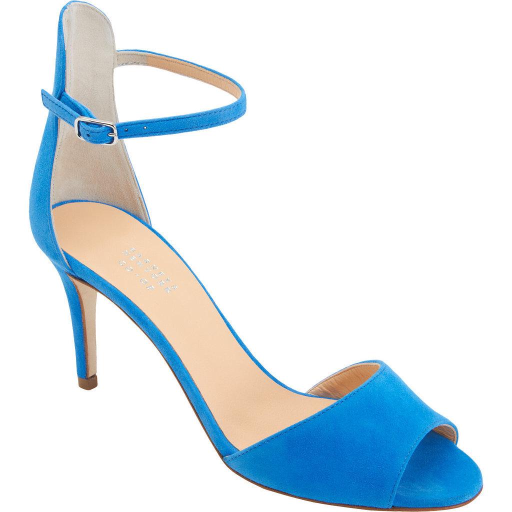 Barneys NY Blue Ankle Strap Heels