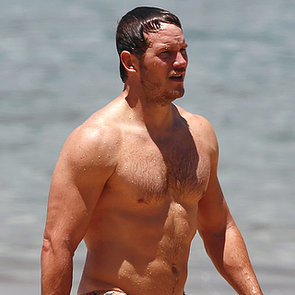 Chris Pratt Shirtless at the Beach