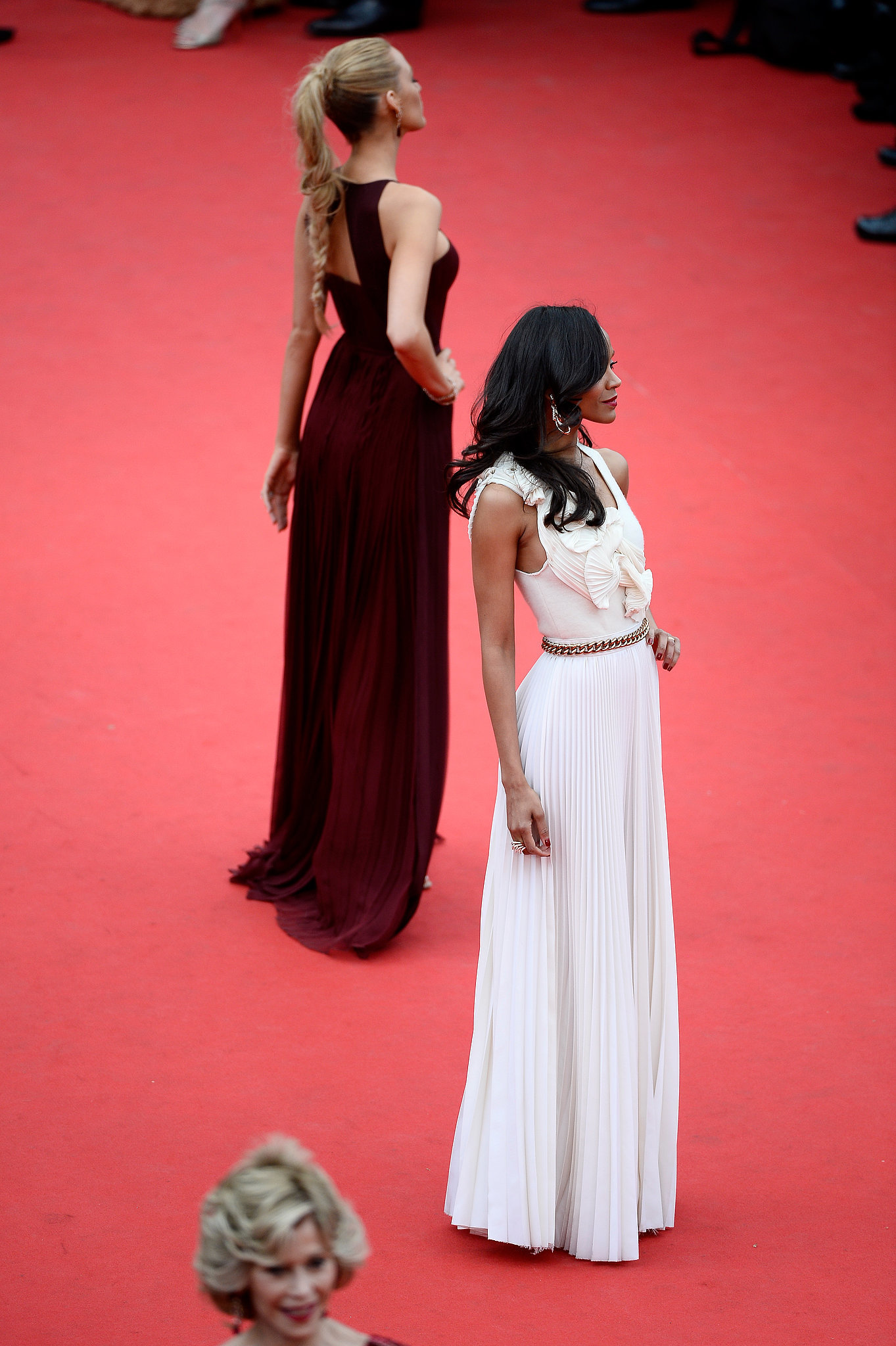 Blake Lively and Zoe Saldana at the Grace of Monaco Premiere