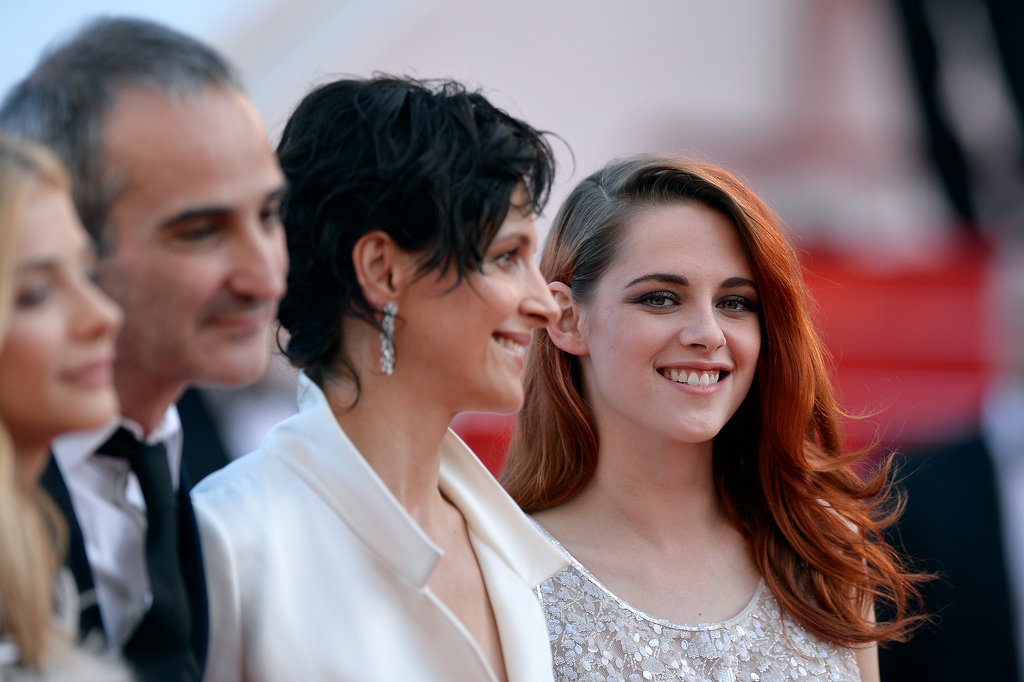 Kristen Stewart donned a sparkly pantsuit when she walked the red carpet at the premiere of her latest project, Clouds of Sils Maria, at the Cannes Film Festival on Friday.