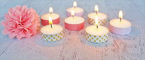 DIY These Sweet Washi Tape Tea-Light Votives