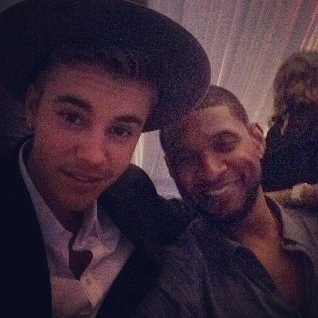 Justin Bieber partied with Usher. Source: Instagram user justinbieber
