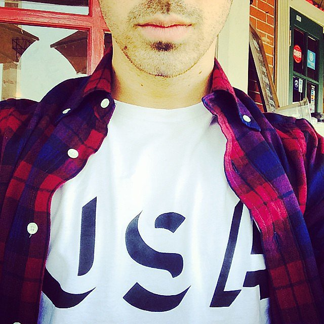 Joe Jonas got into the patriotic spirit. Source: Instagram user joejonas