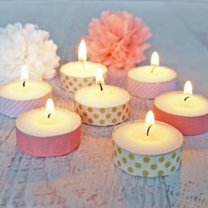 Washi Tape Tea-Light Candles