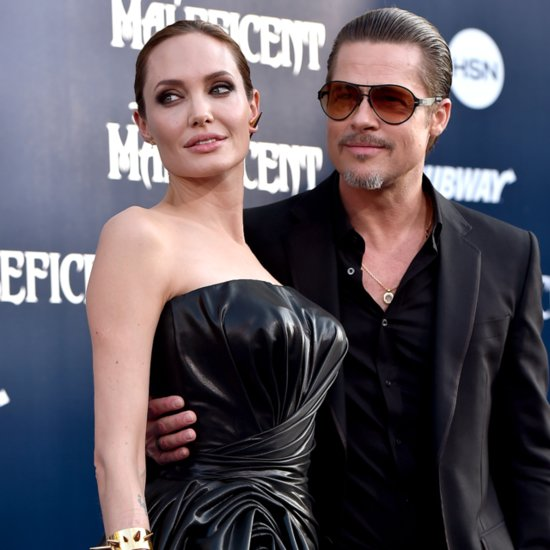 Angelina Jolie and Brad Pitt at the Maleficent LA Premiere