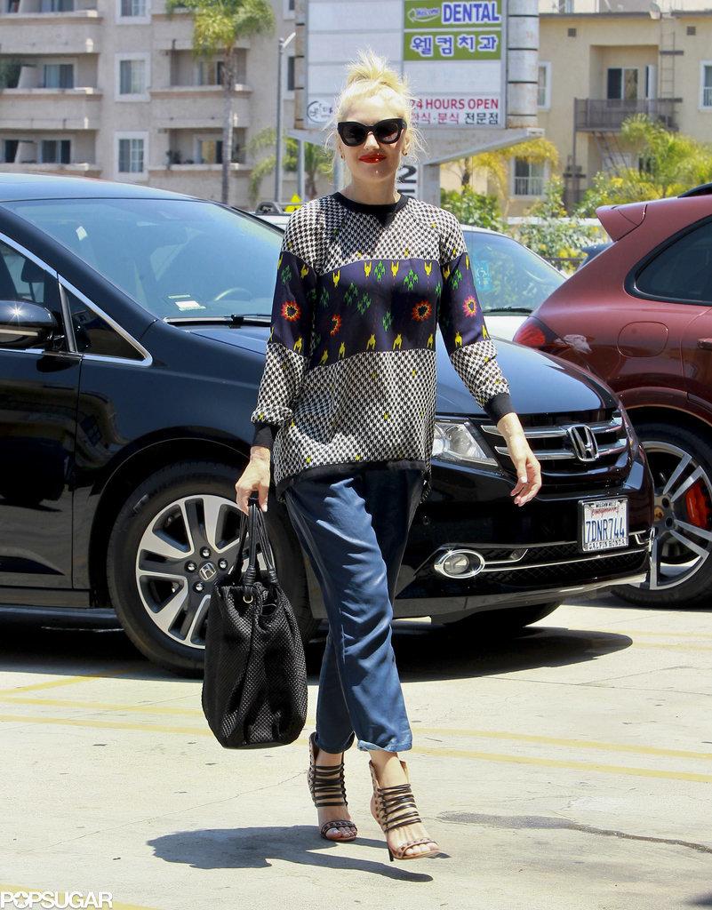 Gwen Stefani looked gorgeous on Wednesday in LA.