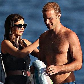 Miranda Kerr and Charlie Goldsmith on a Yacht in Sydney