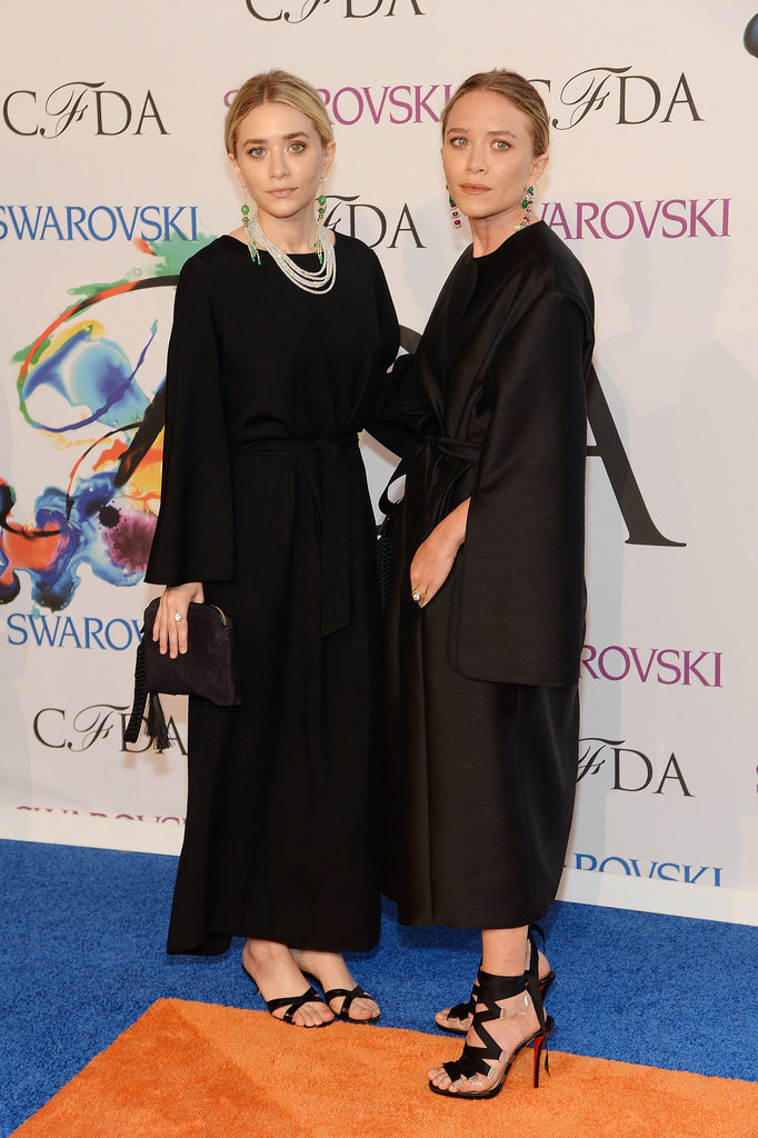 Ashley and Mary-Kate Olsen donned matching all-black looks.