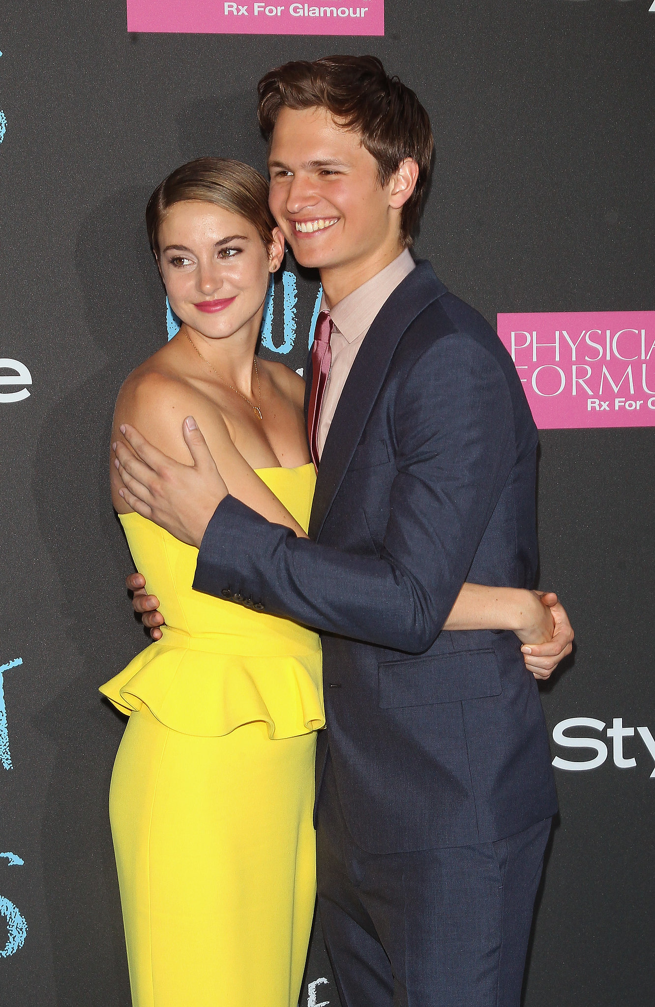 Shailene Woodley and Ansel Elgort also embraced. | The ...