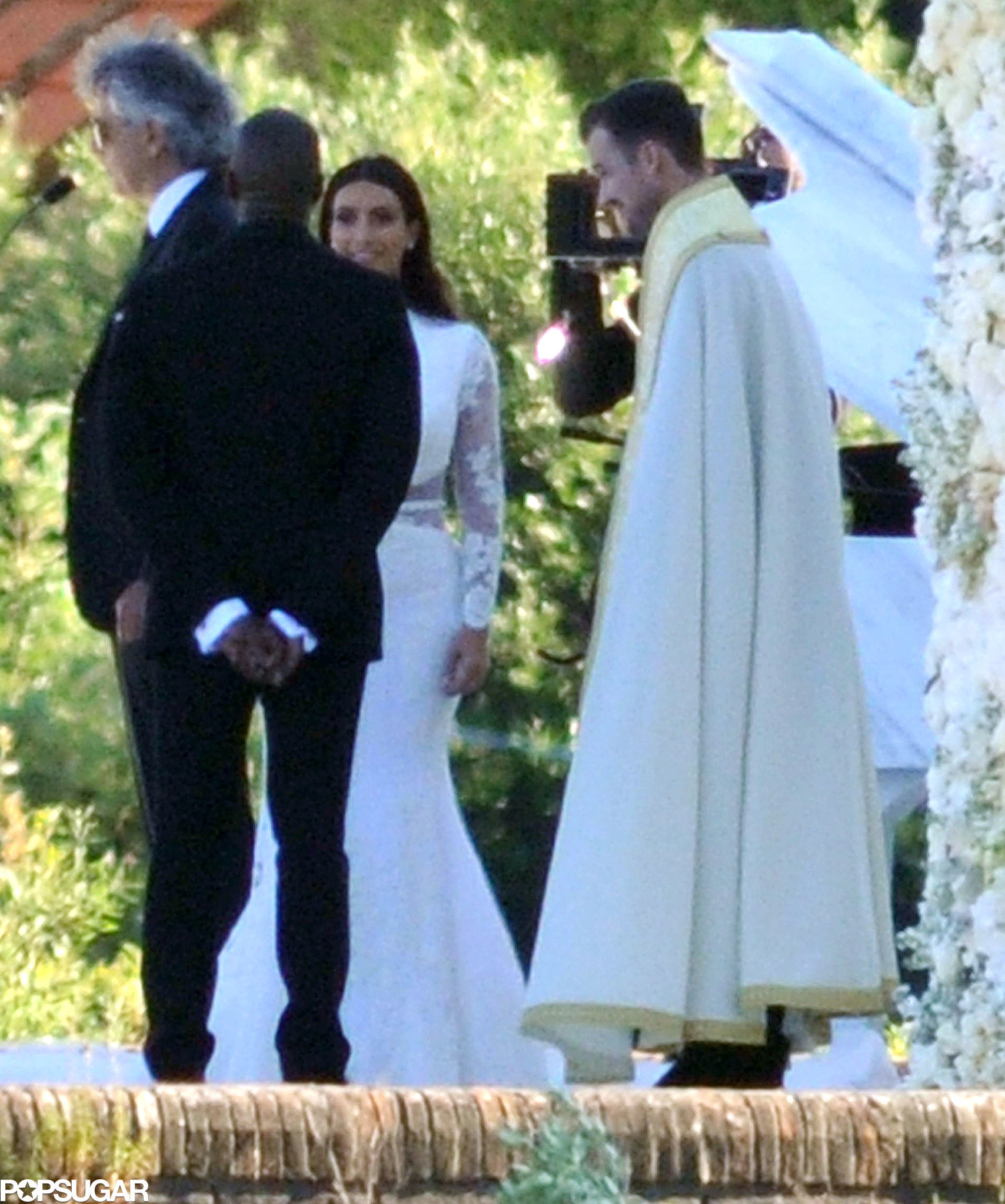 Wedding Dance At The Altar: Kim And Kanye Stood At The Altar.