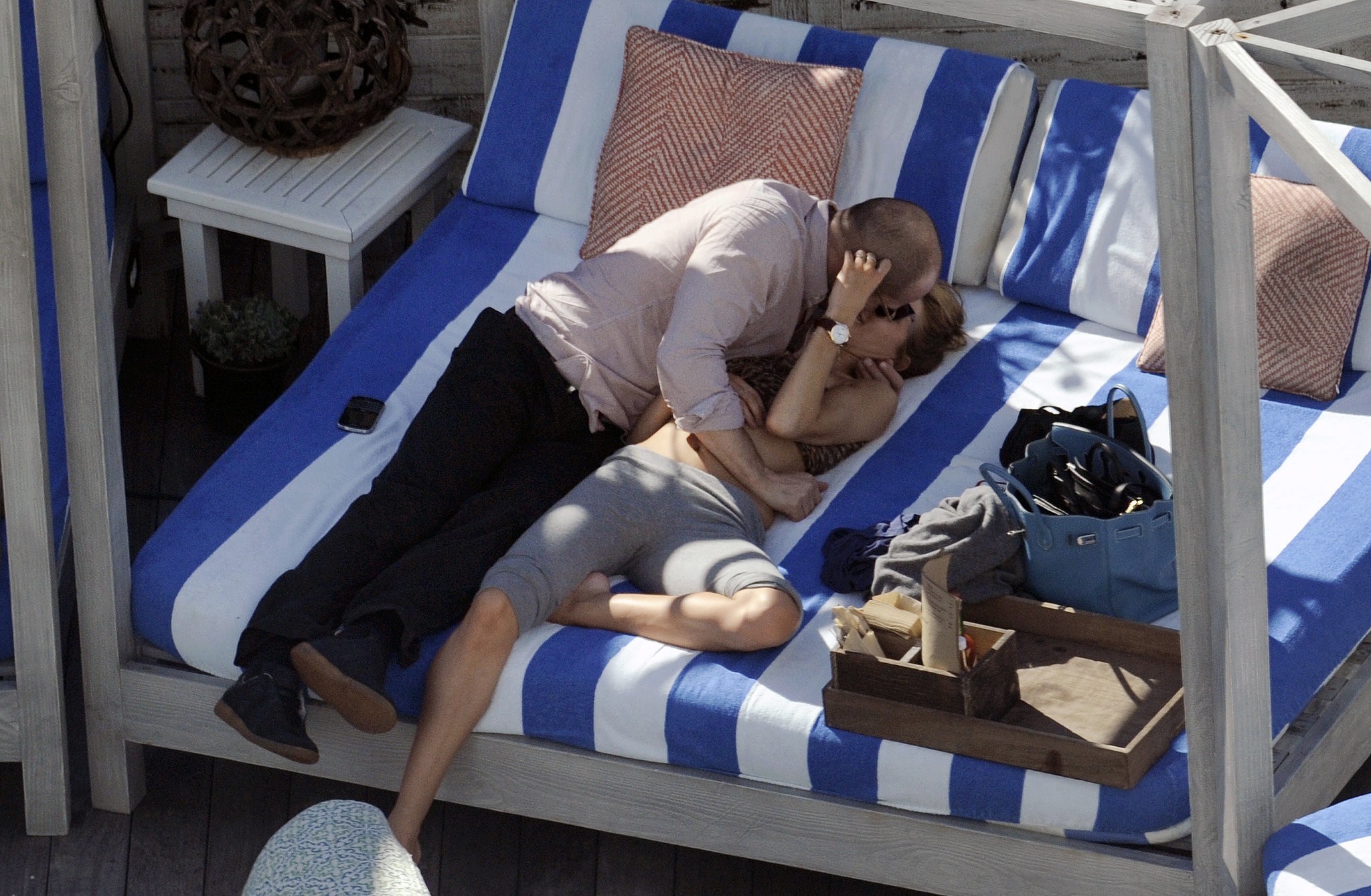 Jason Statham and Rosie Huntington-Whiteley packed on the poolside PDA in Miami back in January 2012.