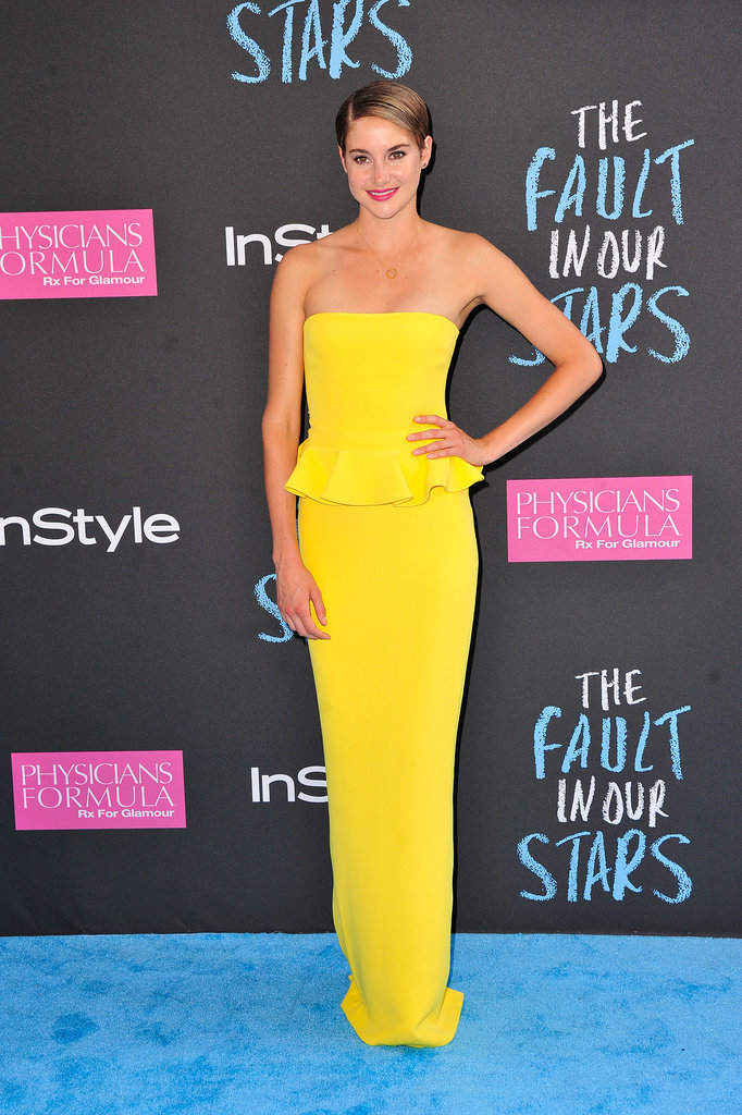 Shailene Woodley in Ralph Lauren Collection at The Fault in Our Stars 2014 NYC Premiere