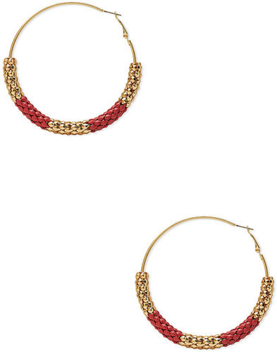 FOREVER 21 Playful Chained Hoops