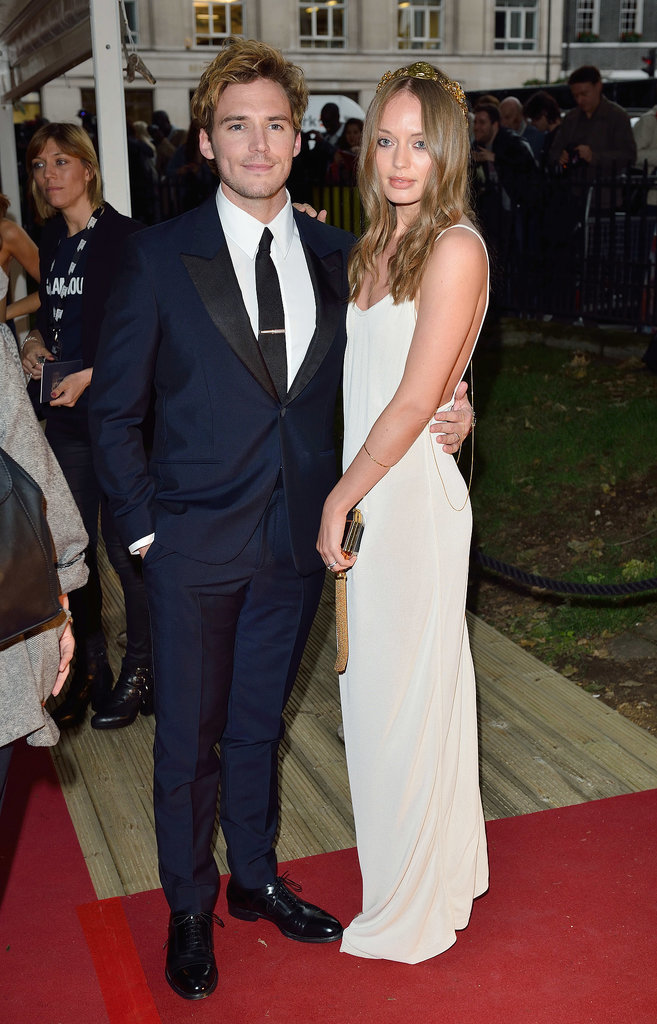 Sam Claflin attended the event with his wife, Laura Haddock.