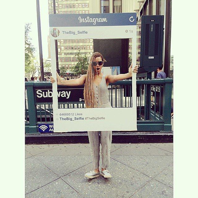 Beyoncé one-upped everyone's selfies this week. Source: Instagram user beyonce