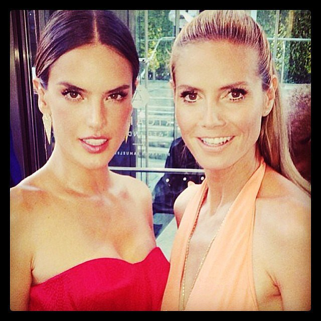 Alessandra Ambrosio wished Heidi Klum a happy birthday. Source: Instagram user alessandraambrosio