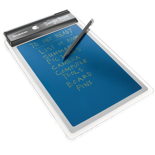 If he's someone who can't live without Post-its, this LCD writing tablet ($40) is a welcome upgrade. It's superthin and comes with a stylus so he can create lists, notes, and doodles.