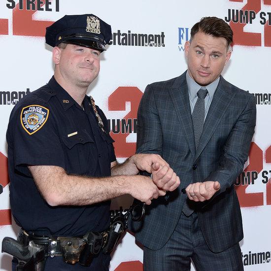 Channing Tatum Getting Handcuffed at 22 Jump Street Premiere
