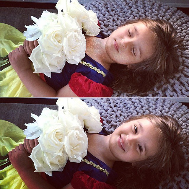 Arabella Kushner did her best Snow White impression — complete with big roses! Source: Instagram user ivankatrump