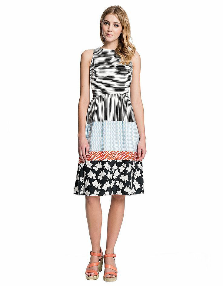 Cece by Cynthia Steffe Mixed Print Dress ($158)