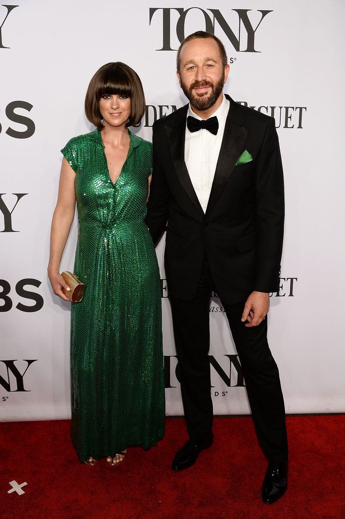 Chris O'Dowd arrived with his wife, Dawn O'Porter.