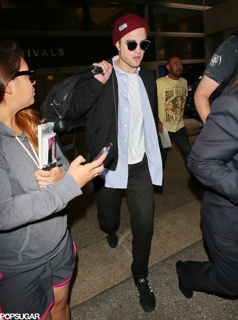 Robert Pattinson Isn't Too Jet-Lagged to Take a Selfie