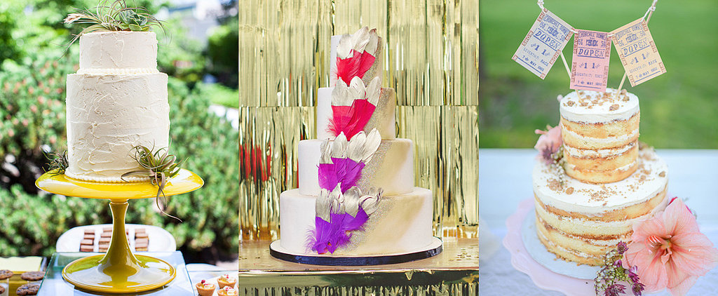 These Hipster Wedding Cakes Are So Sweet